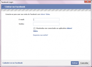 Adore Slides - Facebook Login