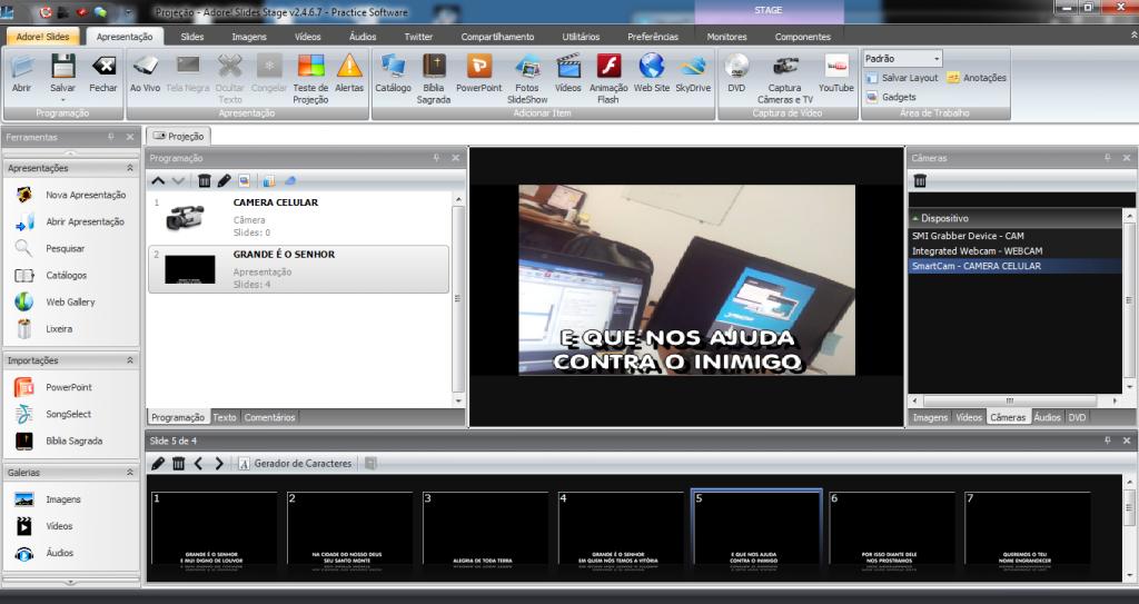 Camera Letra Texto Adore! Slides SmartCam